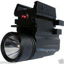Hot Cree Led Flashlight+Red Dot Laser Sight for pistol/Glock 17 19 20 21 22 E26