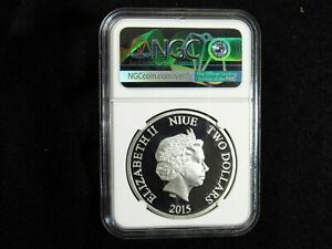 2015 Niue $2 ULTRON COLORIZED NGC PF69 Ultra Cameo 1OZ .999 Silver Coin AVENGERS