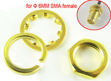 100 set Gold Plated Screw nut 6.35mm 1/4 - 36UNS-2B for Standard Φ6mm SMA Female