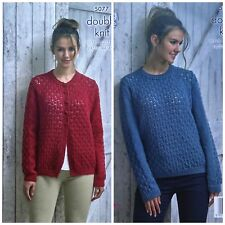 King Cole 5075 Knitting Pattern Womens Waistcoat and Cardigan in Merino Blend DK