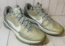 Nike Zoom Kobe VI 6 Metallic Silver White 429659 012 Size 11.5