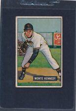 1951 Bowman #163 Monte Kennedy Giants Fair (Stamp) 51B163-121215-1