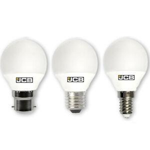 JCB 3w / 6w LED Golf Ball Bulbs B22 E27 E14 Warm Cool Daylight - Packs of: 1-10