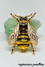 Vintage Style Crystal Insect Brooch Bee Enamel Gift Pin Animal Metal Accessories