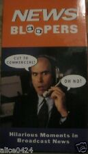 News Bloopers - Hilarious Moments in Broadcast News - VHS NEW & sealed