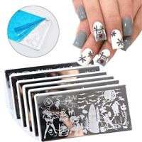 New Nail Art Image Halloween Christmas Stainless Steel Stamping Plates Stencils