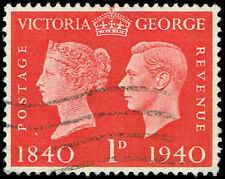 Scott # 253 - 1940 - ' Victoria & George Vi '