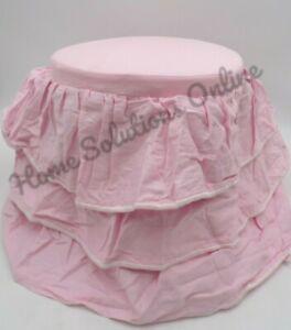 Pottery Barn Madeline Vanity Stool Cushion Cover Ruffles Pink #9847