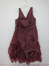 b45eb49d787 Venus Women's V-Neck Ruffle Detail Dress Size 20 Wine New