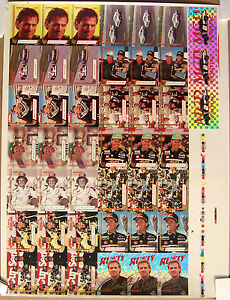 DAYCO 1993 NASCAR CARDS ~ UNCUT SHEET ~ AUTOGRAPHED ~ RUSTY WALLACE