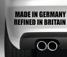 MADE IN GERMANY REFINED IN BRITAIN CAR BUMPER STICKER FUNNY DRIFT JDM WALL ART