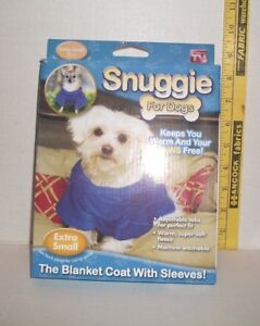 NEW IN PACKAGE PET ACCESSORY CLOTHES DOG SNUGGIE XSMALL BLUE AS SEEN ON TV