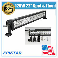"22""IN 120W LED Work Light Bar Offroad Driving Lamp SUV Car Boat SPOT FLOOD BEAM"