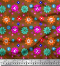 Soimoi Fabric Artistic Floral Print Fabric by Yard - FL-1765B