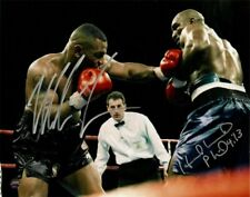 MIKE TYSON & EVANDER HOLYFIELD Autographed 8x10 Photo (RP)