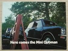 MINI CLUBMAN Car Sales Brochure c1970 #2685/A