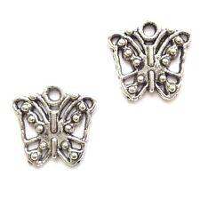30 Tibetan Silver 13mm Butterfly Charms Jewellery Making
