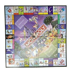 Monopoly Disney Edition 2001 Replacement Game Board Only Parts Pieces Board GUC