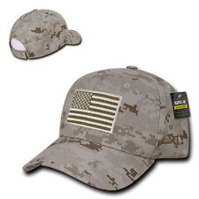 Desert Camo USA US American Flag Patch Military Combat Tactical Operator Cap Hat