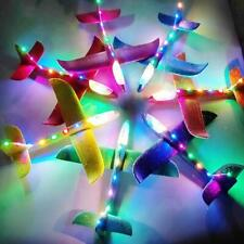 48CM Foam LED Plane Glider Hand Throw Airplane Glider Toy Planes EPP Kids T J6N8