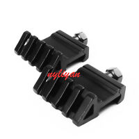 2Pcs 45 Degree Offset Side 20mm Rail Weaver Mount for Rifle Sight Torch Hunting
