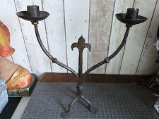 ancien chandelier bougeoir fer forgé