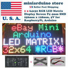 64x32 RGB LED Dot Matrix Display Screen 4mm Pitch for Arduino raspberry Pi 5V US