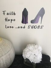 Black Sticker Custom Bathroom Wall Ladies Purple Shoes Decal Home Decor Accent