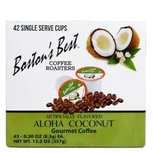 Bostons Best Coffee Pods Aloha Coconut Flavored K Cups 42 Count 1 Serve USA