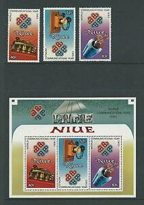 1983 World Communications Year set 3 & Mini Sheet Complete MUH/MNH as Issued