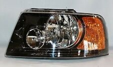 Left Side Replacement Headlight Assembly (Black) For 2003-2006 Ford Expedition