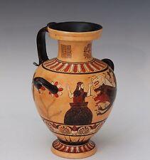 Vintage Greek Grand Tour Pottery Ancient Hydria Vessel Jug Vase Hercules Cerbe