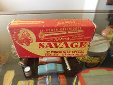 Vintage .32 Winchester Special SAVAGE Indian Original Box Only