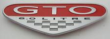 2004 2005 2006 Pontiac GTO 6.0L Fender Badge Emblem LS2 04-06 Red Silver New!!