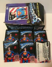 SUPERMAN THE MOVIE Series 1 Trading Cards Lot (Topps 1978) 15 Sealed Packs & Box