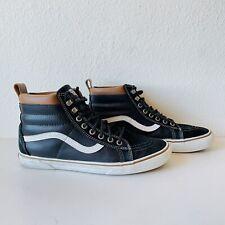 VANS Sk8-Hi MTE Black Leather Scotchgard 3M Protection Shoes Men's Size 10 HTF