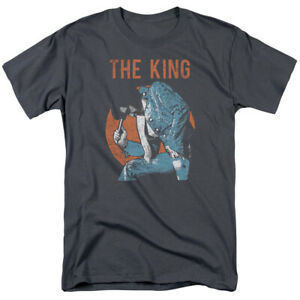Elvis Presley The King Mic In Hand Licensed Adult T-Shirt
