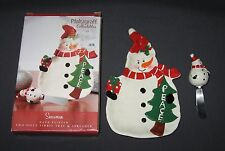 PFALTZGRAFF SNOWMAN TIDBIT TRAY & SPREADER - 2 PIECE SET