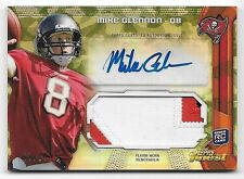 2013 Finest Camo Refractor Mike Glennon 3 Color Jumbo Patch Autograph RC #07/10