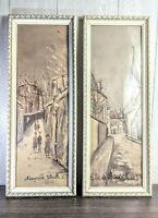 Signed Maurice Utrillo V antique Color Art Lithograph Lambert art nice vtg frame