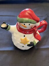 """Ganz Snowman Coffee Pot Teapot 9"""" NEW  EX2913"""