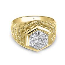 2.00 Carat Men's 14K Yellow Gold Over Diamond Engagement Wedding Pinky Band Ring