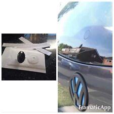 Con Cristal Efecto De Limpiaparabrisas Negro Canilla + Plástico Tapa A Rosca Vw Golf Mk4 Mk5 Mk6 Gti R32