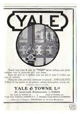 PUBLICITE CADENAS YALE  1914