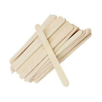 100pcs Wood Sticks Flat Ice Cream Sticks Popsicle Sticks for DIY Material Crafts