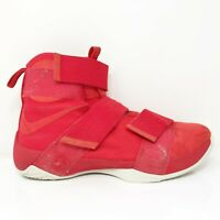 Nike Mens Lebron Soldier 10SFG LUX 911306-600 Red Basketball Shoes Size 10