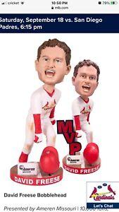 MVP David Freese/ Stl Cardinals Bobblehead !!!VERY RARE!!!