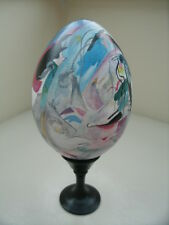Most Expensive art item for those who can - Wooden Egg painted a la Kandinsky