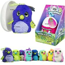Cute Hatchimals Egg Soft Clip-On Plush Mystery Character With Sound Kids Fun Toy