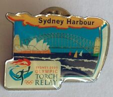 Sydney Harbour Bridge Opera House Olympics Torch Relay Pin Rare Collectable (F3)